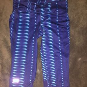Blue Under Armour Cropped Leggings